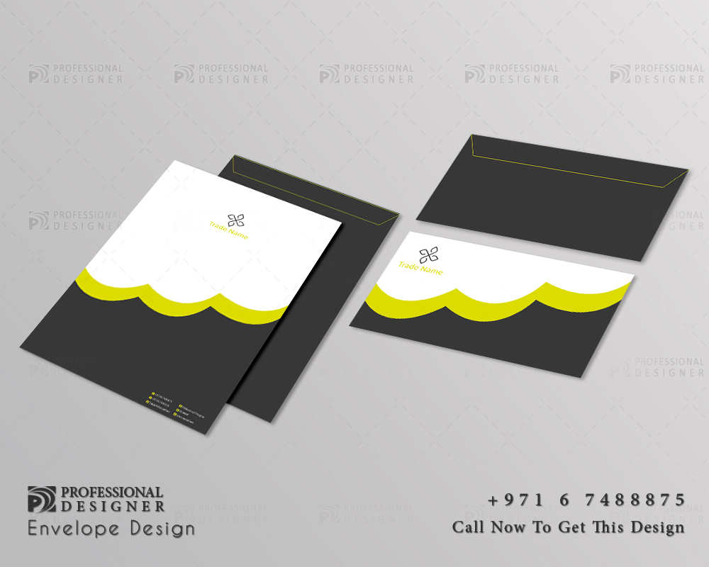 ready print for official envelop design for training and education