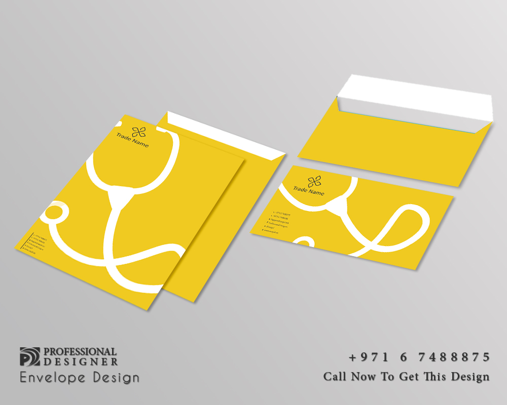 Ready print envelop design with color medical