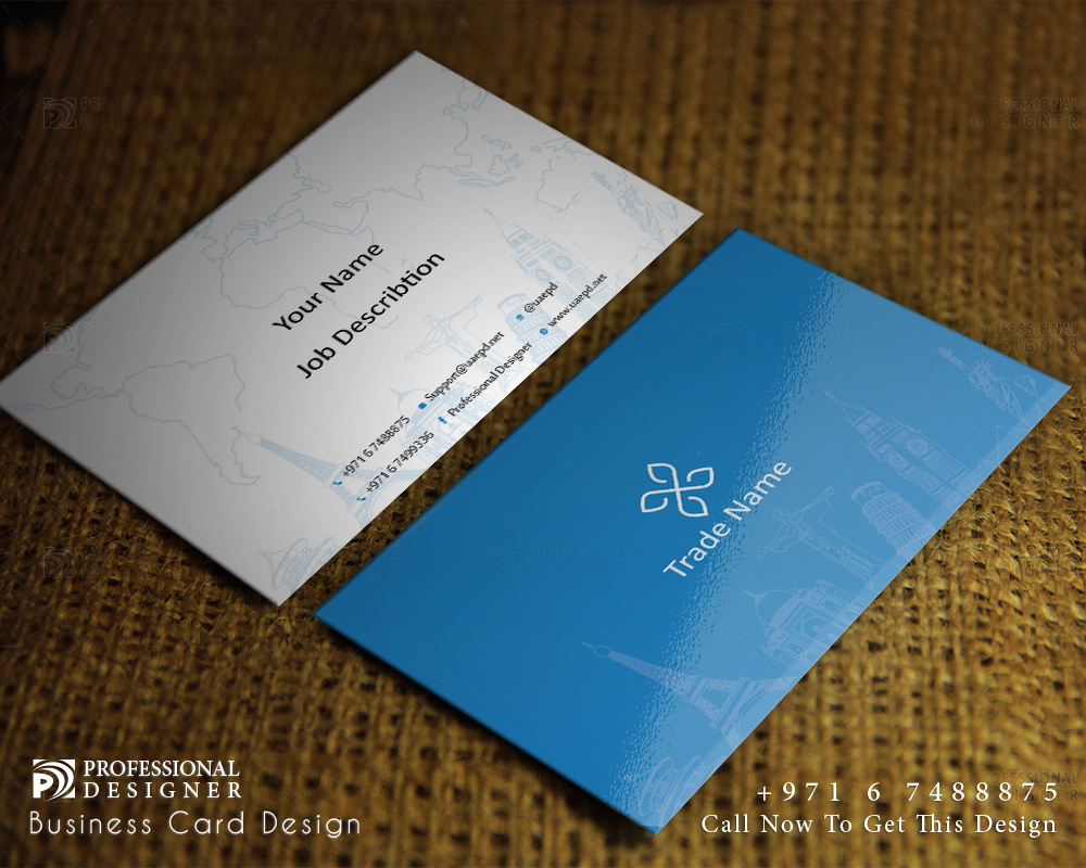 Business card for airline tourism travel companies